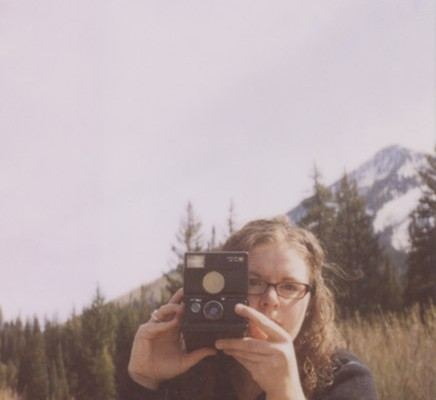 Steph Parke - polaroid self-portrait