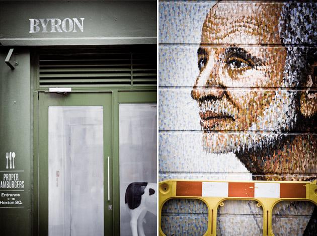 cafe and graffitti - london