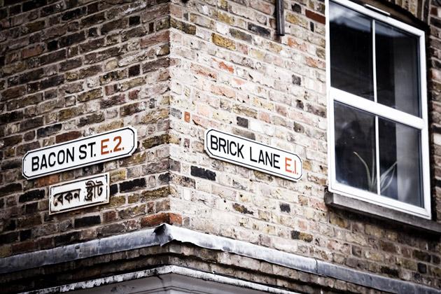 brick lane - street sign - london