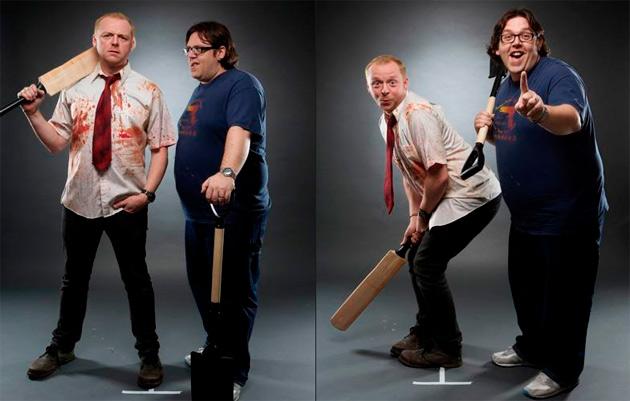 shaun of the dead - empire magazine photo shoot