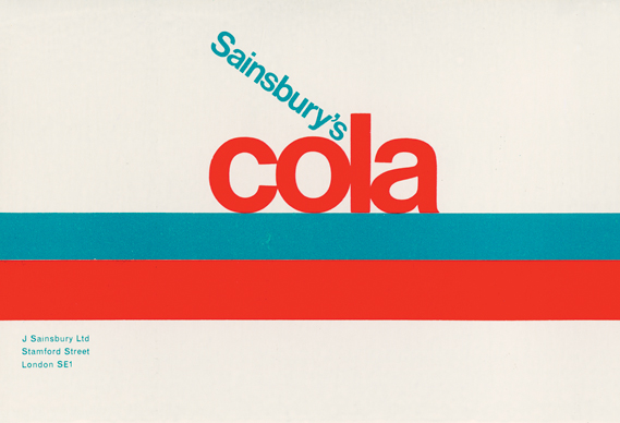 sainsbury's cola label