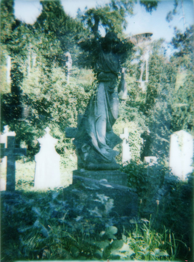 angel double-exposure - diana f+ with instant back