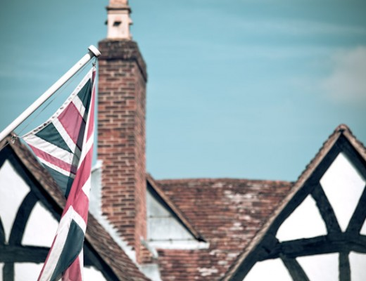 union jack and roof-tops