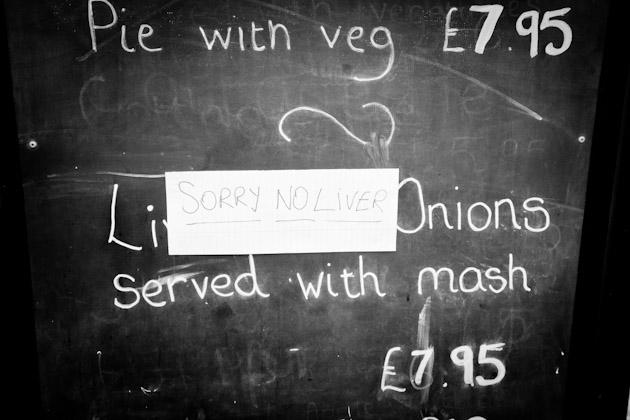 sorry - no liver