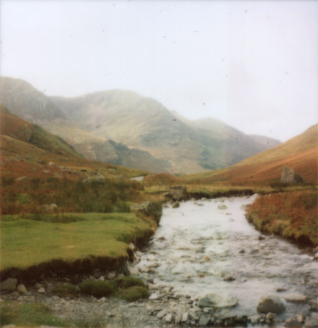polaroid - stream - lake district