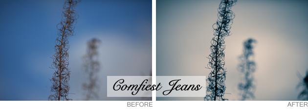 lightroom preset - comfiest jeans