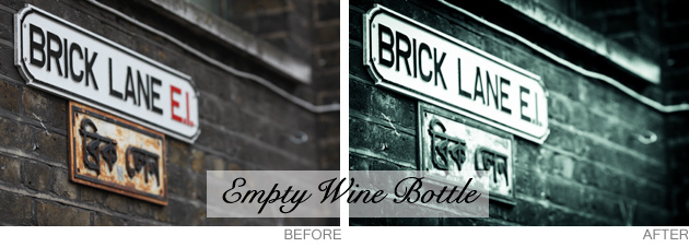 lightroom preset - empty wine bottle