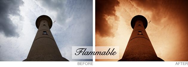 lightroom preset - flammable