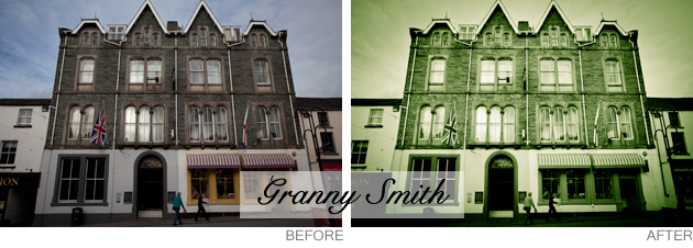 lightroom preset - granny smith