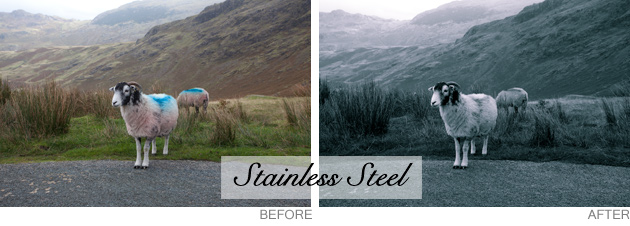 lightroom preset - stainless steel
