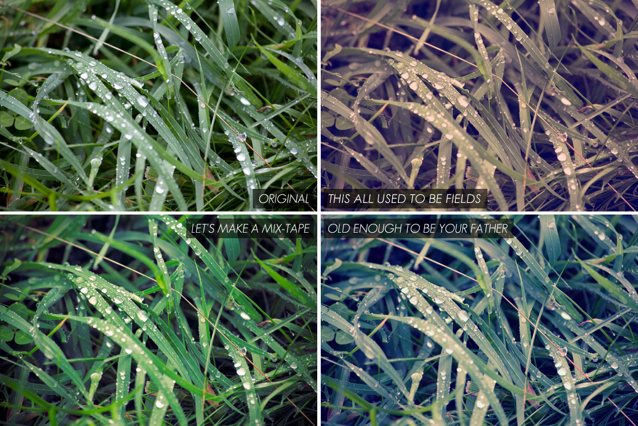 instagram style photoshop actions - grass