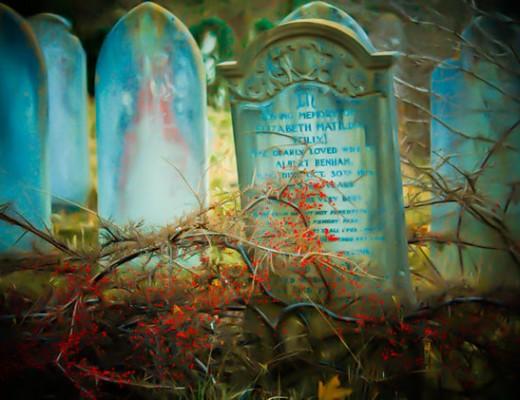 gravestone-painted