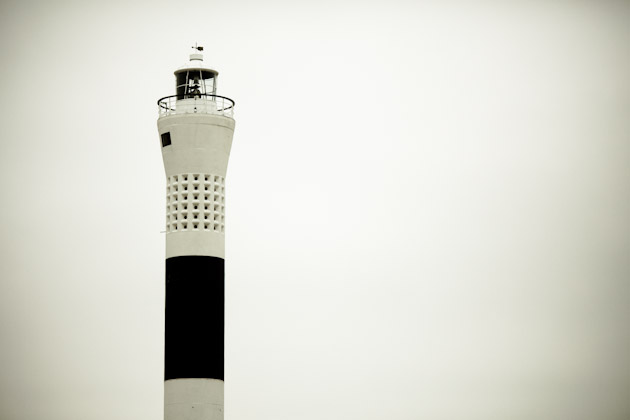 the new 1960s lighthouse at dungeness