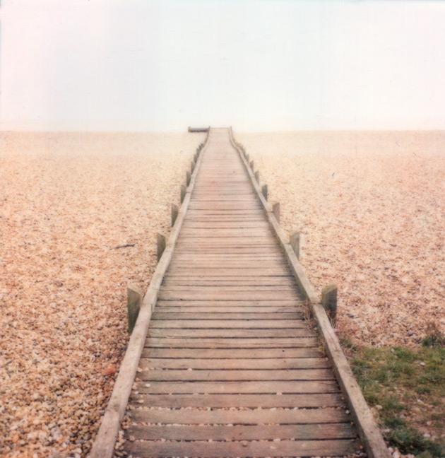 polaroid - dungeness walkway