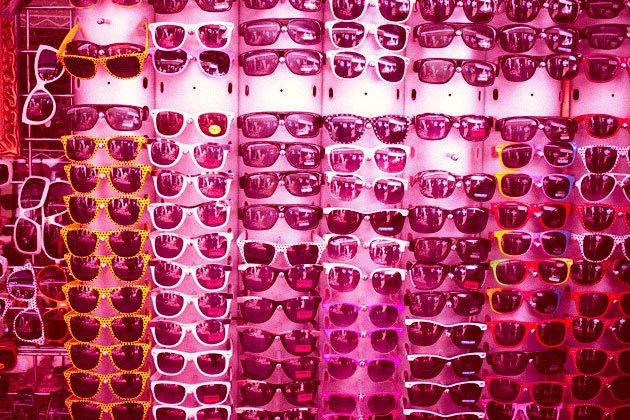 cross processed (magenta) - sun glasses