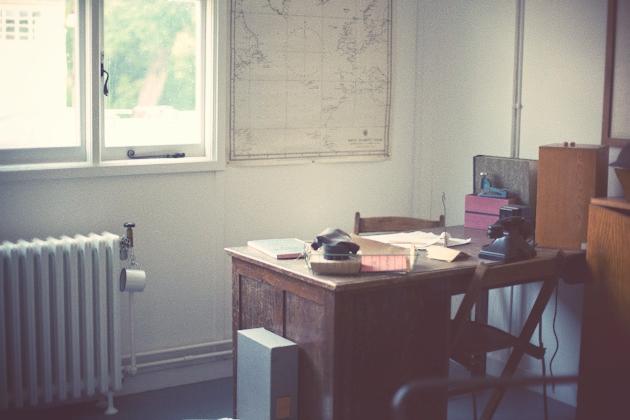 alan turing's desk