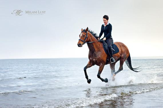 Melani Lust - horse beach
