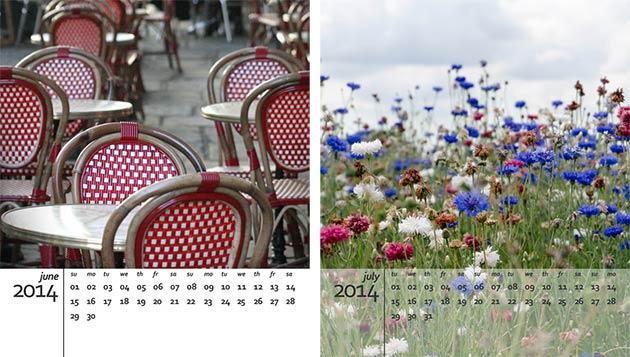 2014 free calendar template
