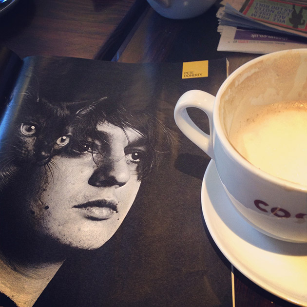 pete doherty and coffee