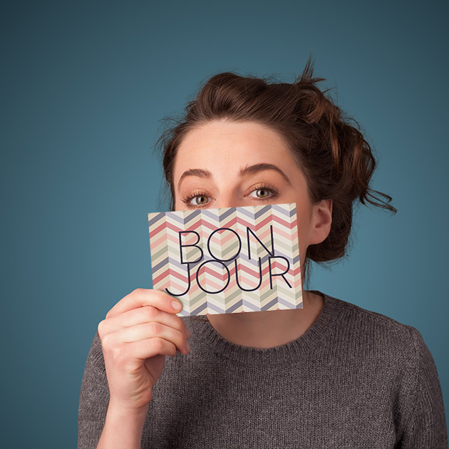 bonjour note card from paperpaper