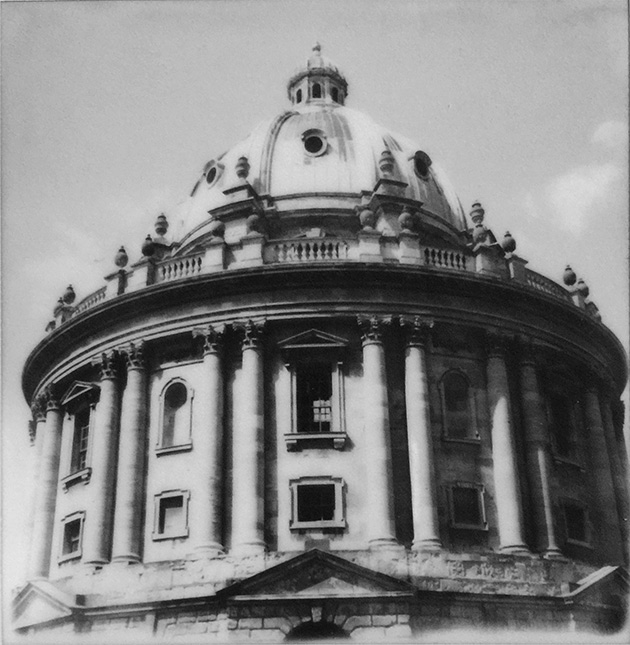 oxford - radcliffe camera - polaroid