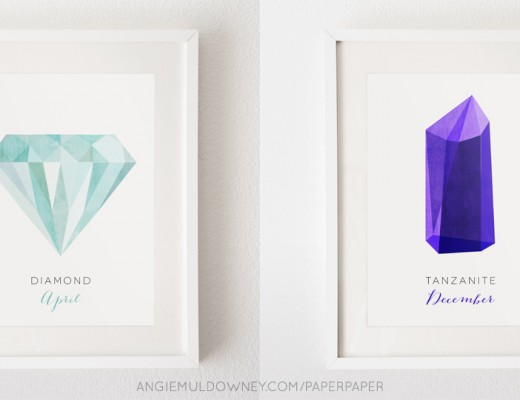 paperpaper - diamond and tanzanite