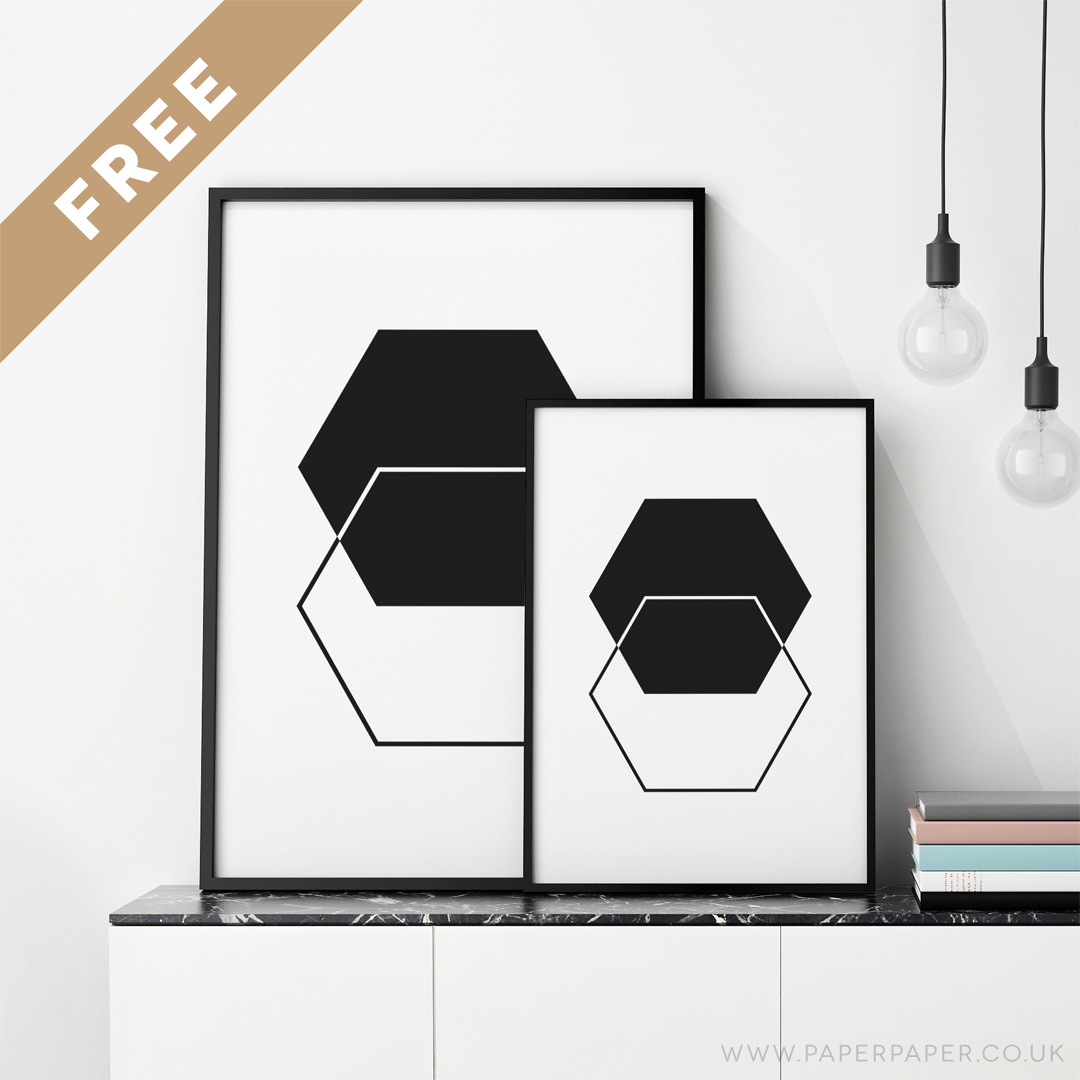 Wall Art Prints Download : Free hexagons printable wall art angie muldowney