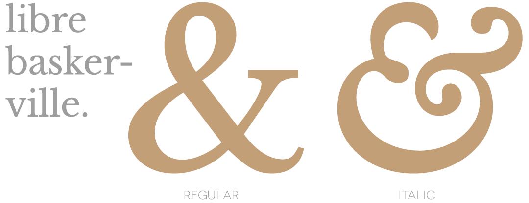 libre baskerville ampersand
