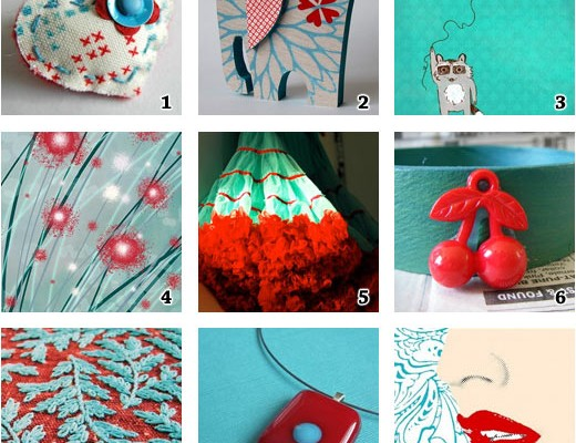 red-and-turquoise