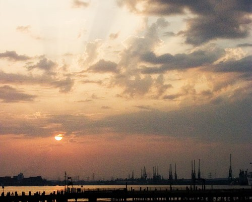 southampton-docks-sunset
