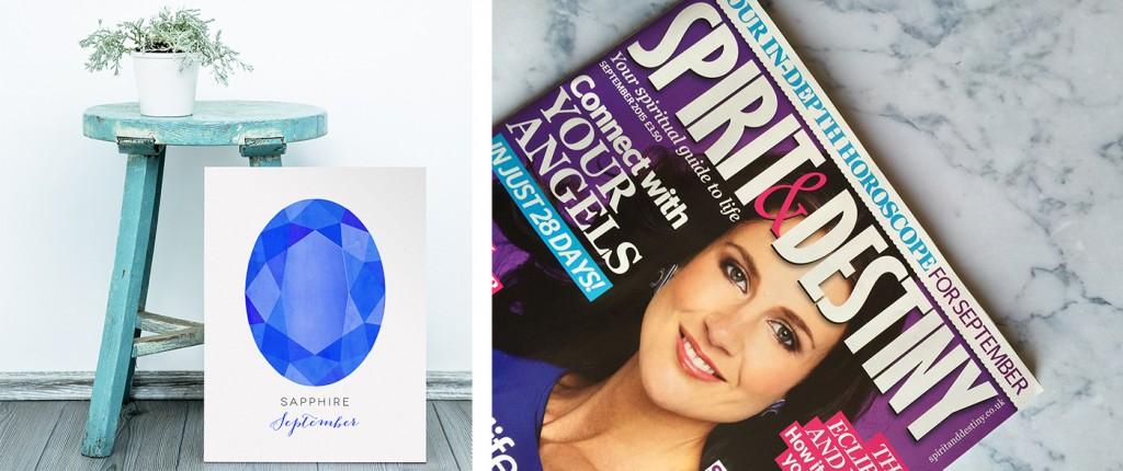 sapphire print in spirit & destiny magazine